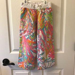 Lilly Pulitzer - girls Small palazzo linen pants.
